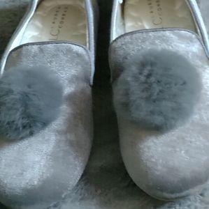 LAUREN CONRAD slippers w tassel ball 7